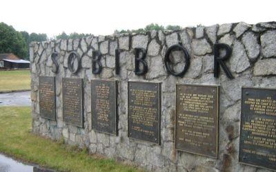 Memorial at the site of Sobibór extermination camp