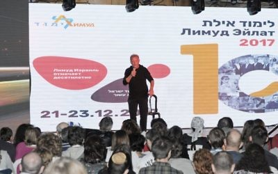 A Limmud FSU Israel session in action in Eilat