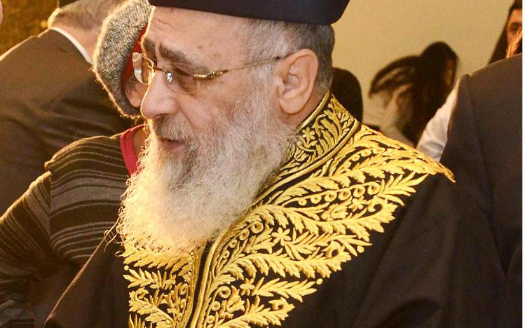 Israel's Sephardi chief rabbi: immigrants from USSR 'religion-hating gentiles'