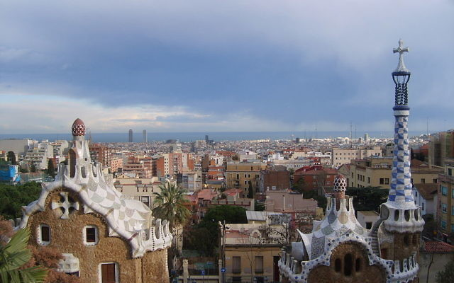 The view of Barcelona from Gaudí's Park Güell
