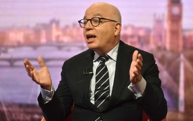 Author Michael Wolff during The Andrew Marr Show.   Photo credit: Jeff Overs/BBC/PA Wire