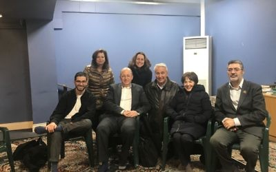 Left to Right: Dor Barak, Hilary Brass, Adam Rose, Vivienne Jackson, Laurence Brass, Edie Friedman, Ahmad Alkazemi.