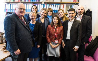 The delegation at North West London Jewish Day School,  Credit Oli Sandler Photography