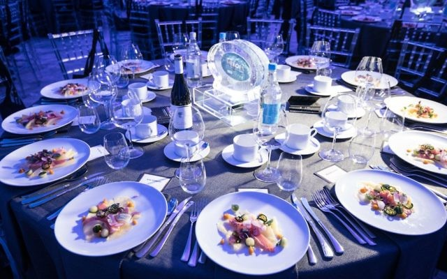 Kosher food was provided by Food Story at the Jewish News Night of Heroes   (C) Blake-Ezra Photography.
