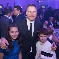 David Walliams with Zak Cohen and Lucy Ronson Allalouf