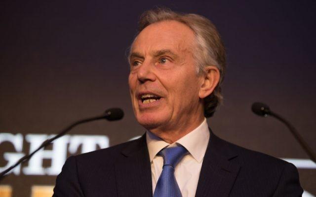 Tony Blair addressing the Night of Heroes, before handing Rabbi Lord Sacks his Lifetime Achievement Award   Credit: Blake Ezra Photography