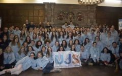 Large group of members of the Union of Jewish Students
