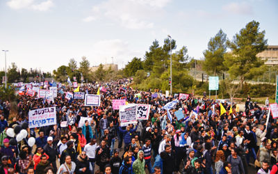 Israeli Ethiopians protest against racism in Jerusalem in 2012. Many who are still in Ethiopia want to be reunited with their families