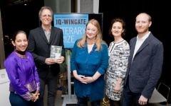 Michael Frank (second left) wins the 2018 JQ Wingate   Grainge Photography