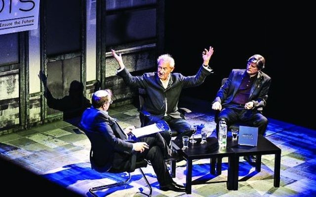 Simon Schama (centre) at the JRoots talk this week