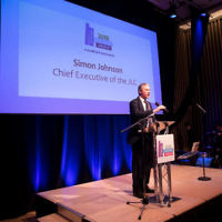 Simon Johnson, CEO of the JLC speaks during The Jewish Schools Awards   Photo Credit: Marc Morris