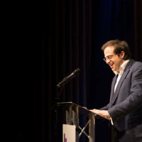 Jewish News editor Richard Ferrer speaking at the The Jewish Schools Awards   Photo Credit: Marc Morris