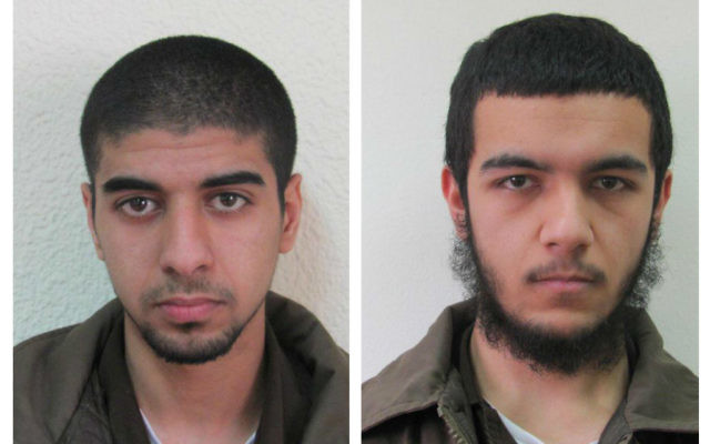 Two of the suspects detained by Israeli police   Credit: @NewsFlashIL on Twitter