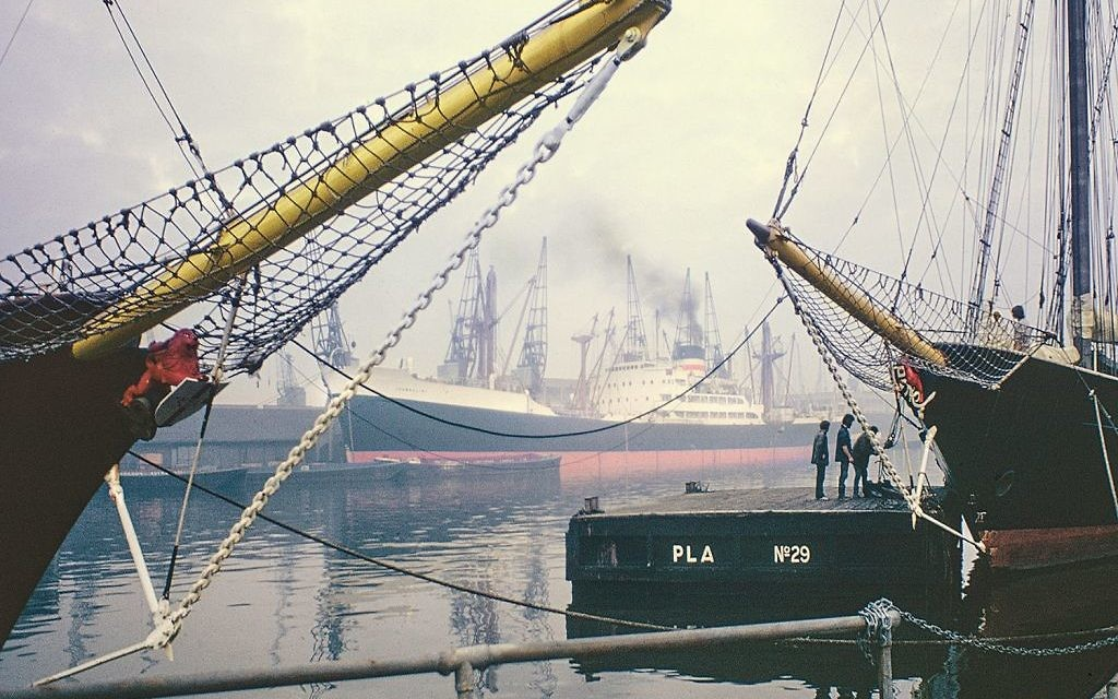 West India Dock, now Canary Wharf, 1971