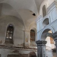 The dilapidated synagogue in Slonim