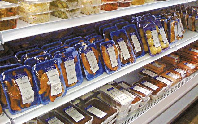 Kosher meat on a shelf in a deli