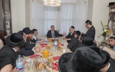 Ambassador Mark Regev in the house of Rabbi Osher Shapiro