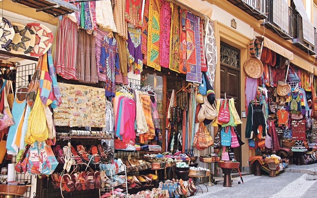A shuk - or market - in Marrakesh