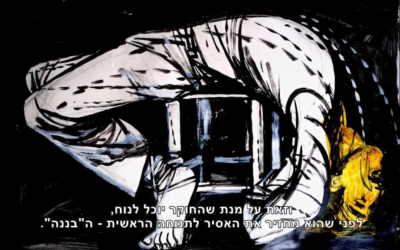 Illustration of a method of torture used by Israeli security forces. according to the Public Commitee against Torture in Israel