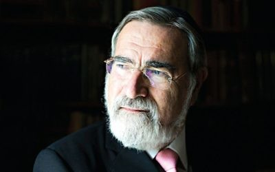Chief Rabbi, Lord Sacks.  Credit: Blake Ezra