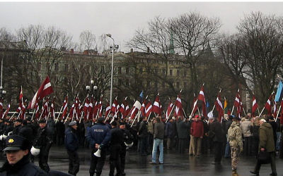 Remembrance day of the Latvian legionnaires, 2008