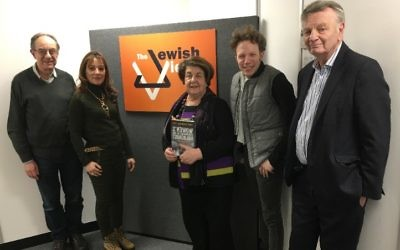 Agnes Grunwald-Spier (centre) with the Jewish Views team