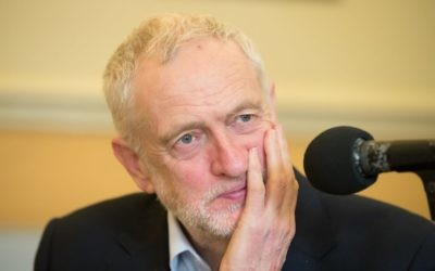 Jeremy Corbyn speaking exclusively to Jewish News  Photo credit: Marc Morris