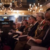 Major General Benjamin John Bathurst attended (R).  Photo credit: Sgt Rupert Frere/MOD Crown Copyright.