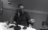 David Baddiel speaking on the radio show with Ricky Gervais