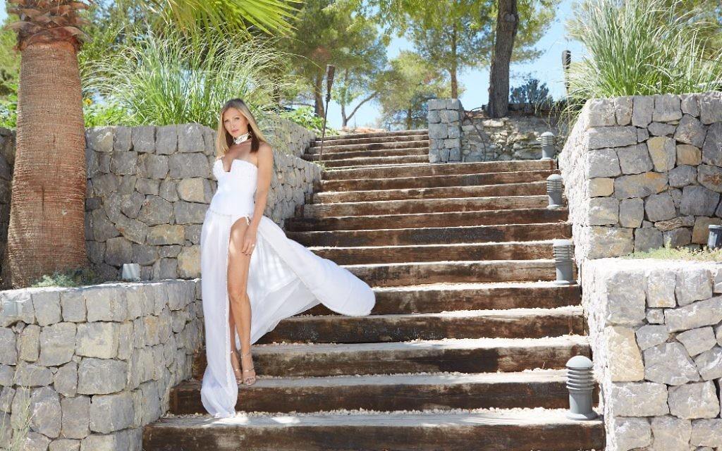 Model-turned-entrepreneur Caprice on holiday in Ibiza