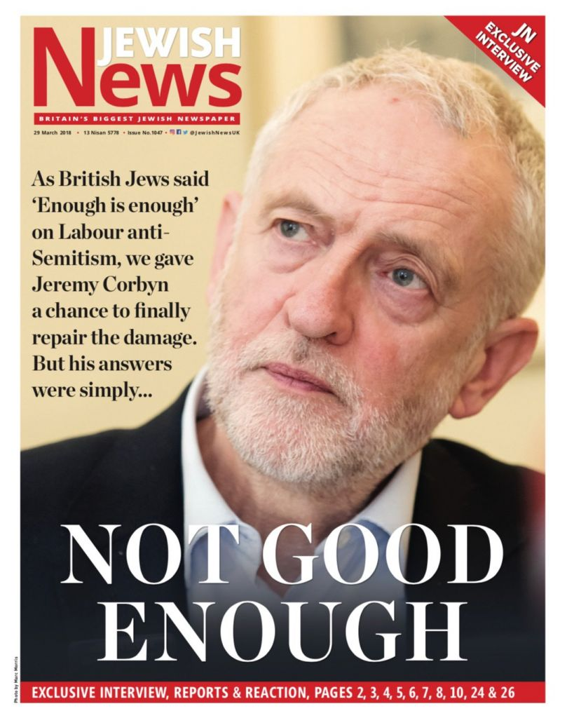 Jewish News' front page