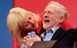 Labour leader Jeremy Corbyn laughs next to Jennie Formby at last year's conference in Brighton.