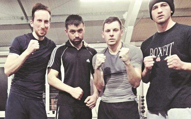 Joe Hildebrand (left) says he's in the best shape of his life. ahead of his debut in the boxing ring next week