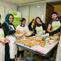JW3 Cooking Session:  Young professionals cooking for Sufra NW - photo by Yakir Zur