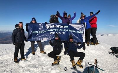 Kisharon's eight participants at the top of Ben Nevis