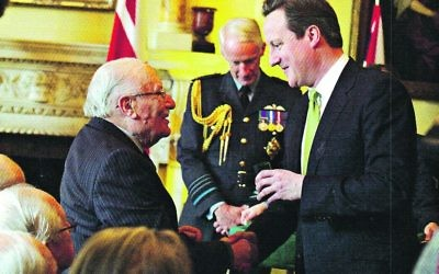 Leslie Temple with former Prime Minister David Cameron