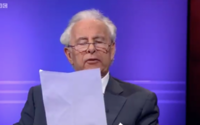 Lord Levy reading out the anti-Semitic email on BBC Newsnight