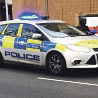 Met police car on response
