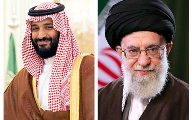 Mohammed bin Salman and Ali Khamenei