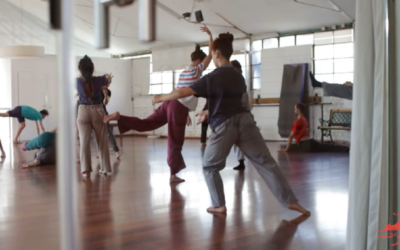 Screenshot from a video of Nitzan Lederman Dance Class, one of the choreographers snubbed by the festival