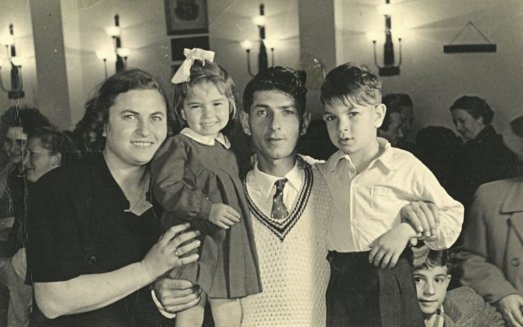Miri with her mother Hannah, father Ephraim, and brother Haim'ke