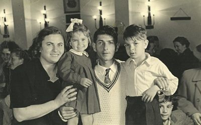 Miri with her mother Hannah, father Ephraim, and brother Haim'ke