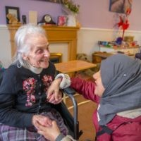 Peterborough Liberal Jewish Community and Masjid Khadijah Islamic Centre care home visit - picture by Toqeer Sethi
