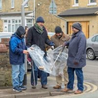 Peterborough Liberal Jewish Community and Masjid Khadijah Islamic Centre litter pick - picture by Toqeer Sethi