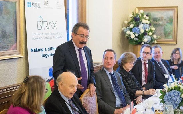 Prof. Lord Robert Winston and UK Ambassador to Israel David Quarrey at UK Israel Science Week