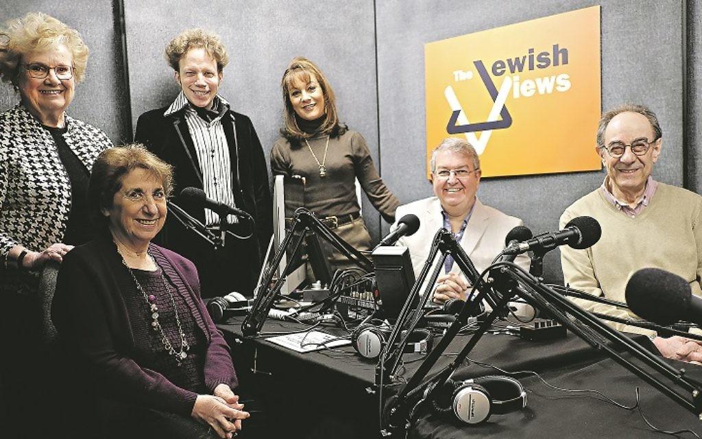 The Jewish Views team: Sue Greenberg (producer), Diana Toeman, Phil Dave, Kate Fulton, Jon Kaye and Tony Honickberg