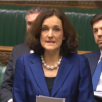 Theresa Villiers speaking in the Commons as she tabled an proposed legislation on the issue of returning Nazi-looted art