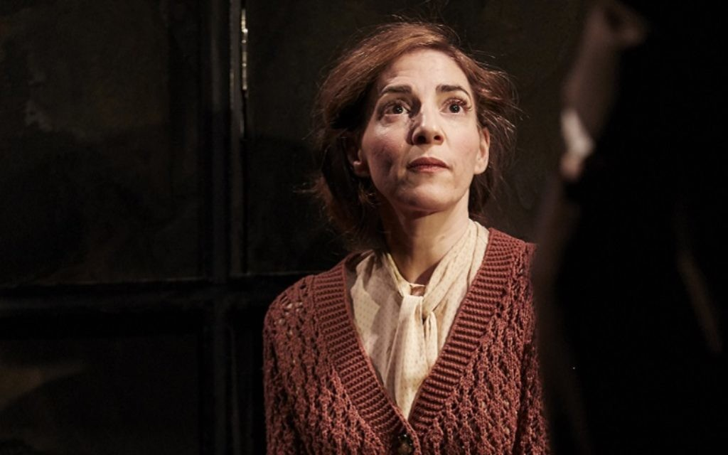 Clara Francis plays Harriet, the sister of the lead character, Sylvia Gellburg, in a revival of Broken Glass