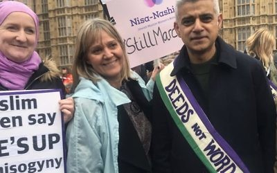 Nisa-Nashim's co-founders Julie Siddiqi (left) and Laura Marks (centre) with London Mayor Sadiq Khan