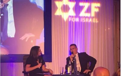 Zionist Federation dinner saw Sandy Rashty interview controversial speaker Gideon Saar